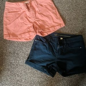 2 pair of colored lauren conrad shorts
